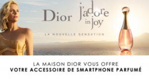 Échantillons gratuits Dior 1 accessoire de smartphone parfumé