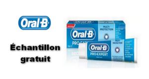 Échantillons gratuits de dentifrice Oral-B