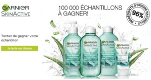 100000 échantillons gratuits Garnier SkinActive
