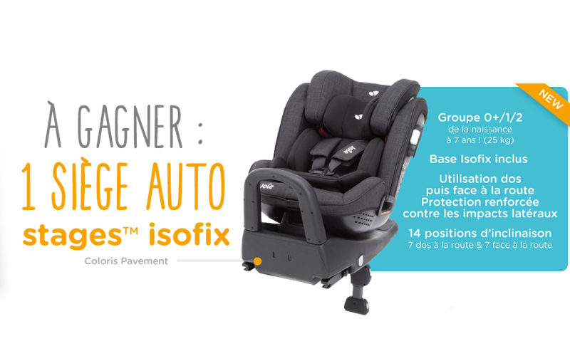 si ge auto stages isofix joie chantillons gratuits france. Black Bedroom Furniture Sets. Home Design Ideas