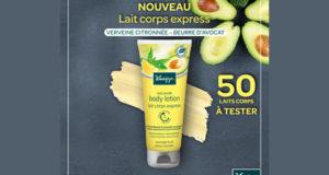 Test produit, Lait corps express - Verveine citronnée