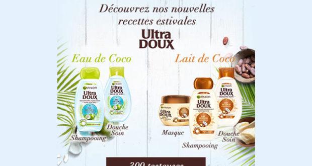 Testez la gamme Ultra Doux Coco de Garnier