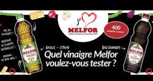 400 vinaigres Melfor gratuits à tester