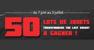 50 lots comportant 6 jouets Transformers