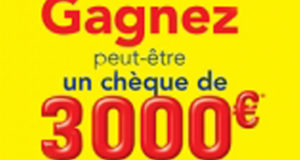 Chèque de 3000 euros