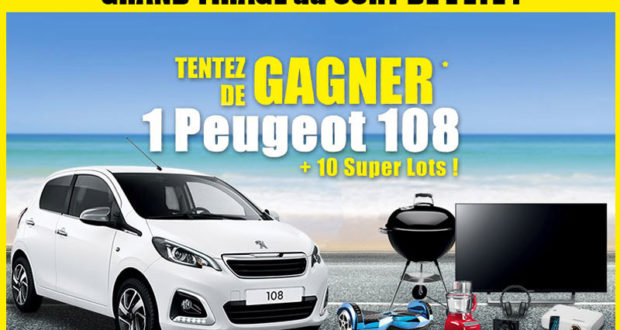 gagnez une voiture peugeot 108. Black Bedroom Furniture Sets. Home Design Ideas
