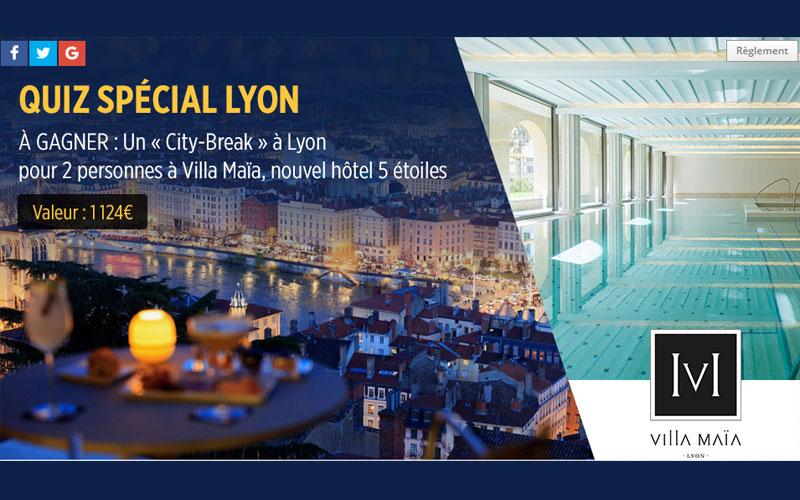 Week end lyon pour 2 l 39 h tel 5 toiles villa ma a for Appart hotel 5 etoiles