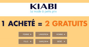 1 article Kiabi acheté = 2 gratuits