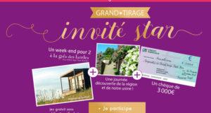 3000 euros + week-end pour 2 personnes à La Grée des Landes