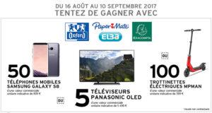 5 téléviseurs OLED Panasonic, valeur unitaire 5490 euros