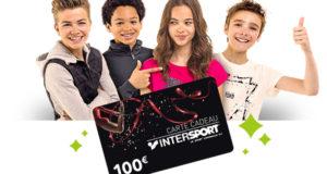 50 cartes cadeau Intersport de 100 euros