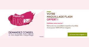 Maquillage flash offert en magasin Yves Rocher