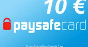 100 codes PaySafeCard de 10 euros