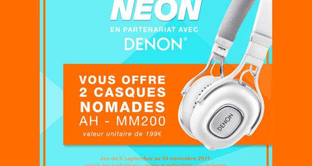 2 casques audio Denon