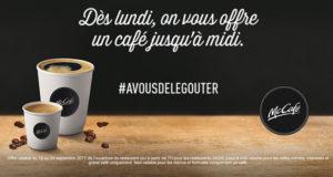 Café gratuit dans votre McDo ou McCafé