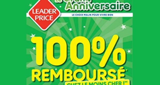 Leader Price 100% remboursé 34 produits gratuits