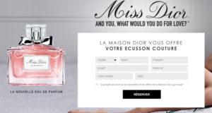 Un écusson couture Miss Dior en cadeau