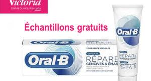 Échantillons gratuits du dentifrice Oral-B Répare gencives et émail