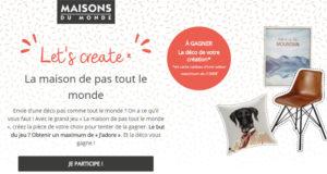 1 lot de 2000 euros de cartes cadeaux Maisons Du Monde