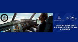 10 séances de simulateur de vol pour 2 personnes