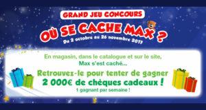 8 chèques cadeau Maxi Toys de 250 euros