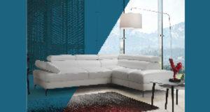 Canapé d'angle en cuir Hudson (valeur 1995 euros)