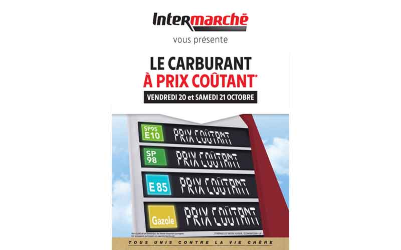 carburant prix co tant chez intermarch chantillons gratuits france. Black Bedroom Furniture Sets. Home Design Ideas