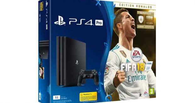 console de jeux ps4 1 jeu vid o fifa 18 chantillons. Black Bedroom Furniture Sets. Home Design Ideas