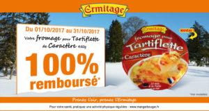 Fromage pour tartiflette Ermitage 100% Remboursé