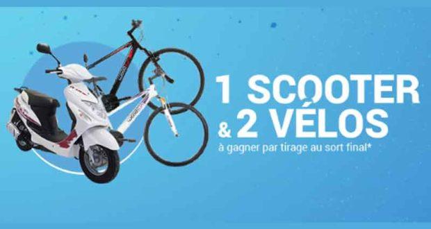 Scooter, 2 vélos à gagner