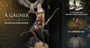 Statue taille réelle du jeu Assassin's Creed (valeur 6000 euros)
