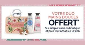 Votre Duo Crèmes Mains offert par L'Occitane