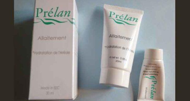 Échantillons gratuits de la crème Prélan Allaitement
