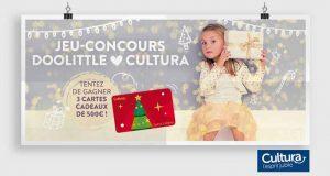 3 cartes cadeau Cultura de 500 euros