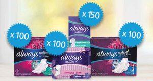 450 produits Always à tester gratuitement