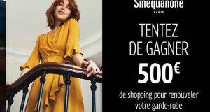 Bon d'achat Sinéquanone de 500 euros