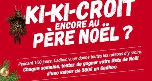 Chaque semaine 1 carte cadeau Cadhoc de 500 euros