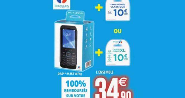 Téléphone + carte de 10€ gratuits (100% remboursés)