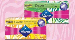 2400 packs de tampons Nana Discret gratuits