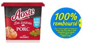 Les Tartinés Aoste 100% remboursés