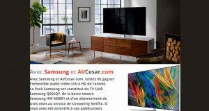 Téléviseur Samsung + barre de son + 3 mois d'abonnement Netflix