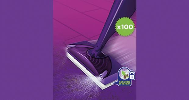 100 balais Spray WetJet de Swiffer gratuits