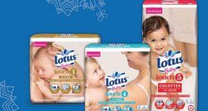 300 000 paquets de couches Lotus Baby Touch gratuits