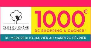 Bon d'achat Centre commercial Clos du Chêne de 1000 euros