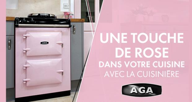 cuisini re en fonte massive aga 60 de couleur rose chantillons gratuits france. Black Bedroom Furniture Sets. Home Design Ideas