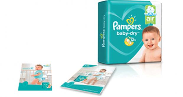 3000 paquets gratuits de couches Baby-Dry Canaux d'Air