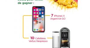 7 smartphones Apple IPhone X 64 GO (valeur unitaire 1160 euros)