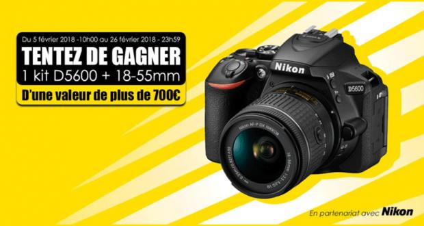 Appareil photo Nikon D5600 avec 1 objectif