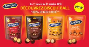 Biscuits McVitie's Ball 100% remboursés