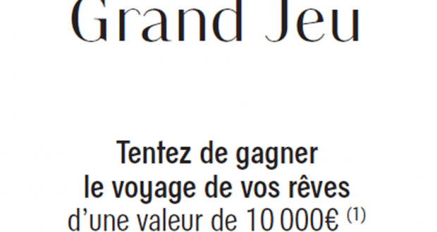 Bon voyage Galeries Lafayette de 10 000 euros